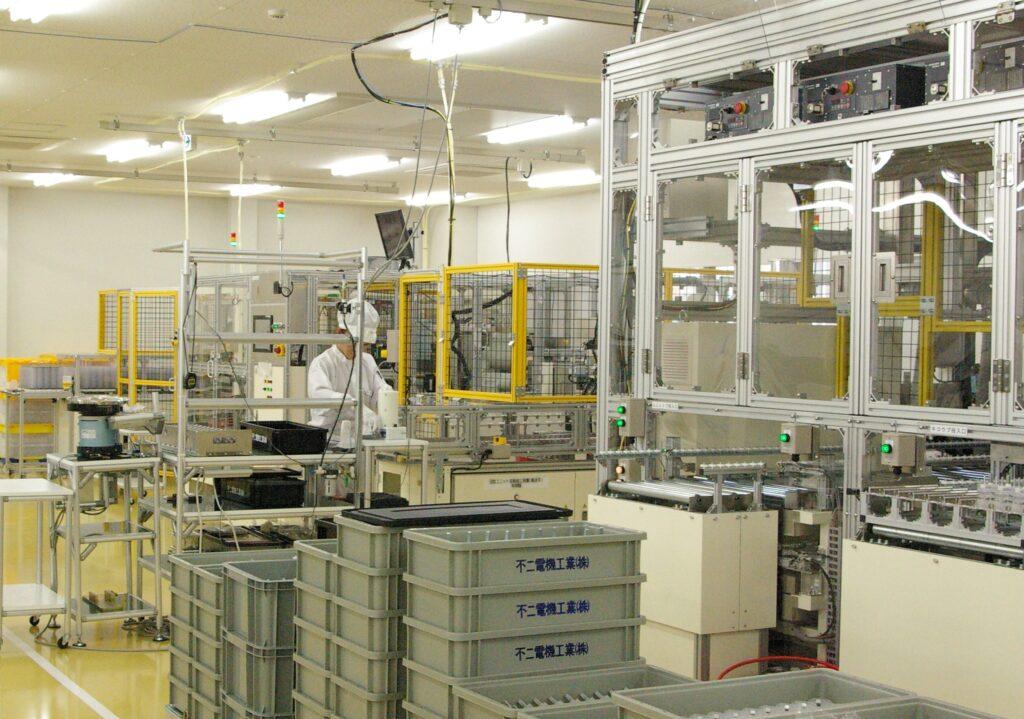 不二電機工業みなみ草津工場の新生産ライン