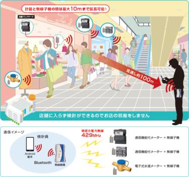 大崎電気工業 ハンディ検針システム 目視検針業務を無線で実現