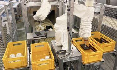 テックマジックとフジマック、食器自動仕分けロボット実証実験